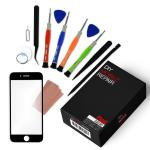 iPhone 8 Repair Kit with Replacement Glass Screen + Tools + Video Guide - Black