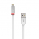 Scosche Flatout LED 6 ft. Charge & Sync Cable w/LED Indicator for Lightning Devices - White