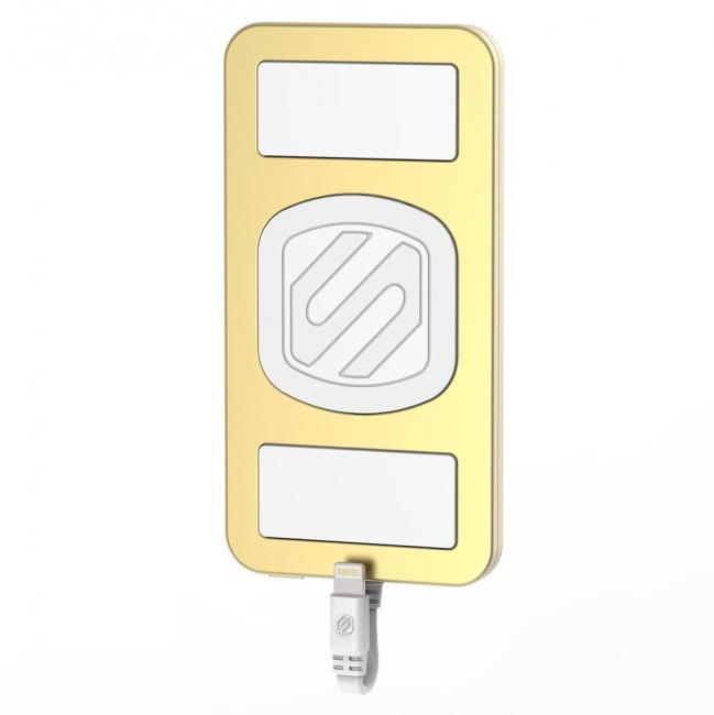 Scosche Magnetically Mounted Portable Power Bank for Lightning Devices – Gold