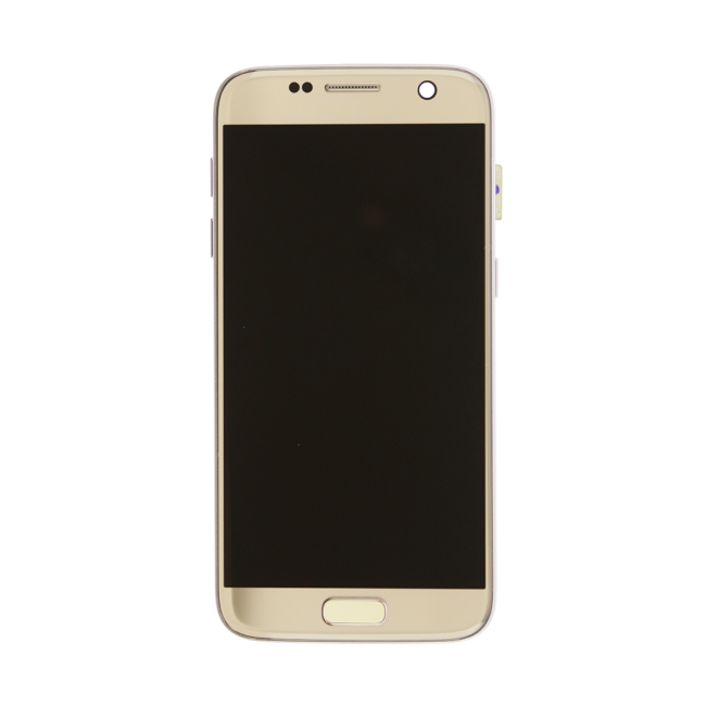 samsung galaxy s7 g930v lcd touch screen with frame small parts gold - Mobile Frame