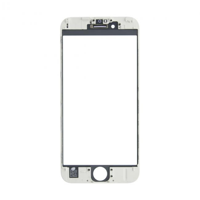 iPhone 6s Glass Lens Screen & Frame - White (Cold Pressed)